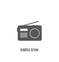 radio icon simple flat style vector image