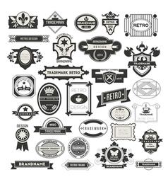 Retro Vintage Insignias vector image
