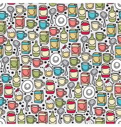 Seamless kitchenware pattern vector