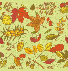 Seamless pattern sketch branches with vector