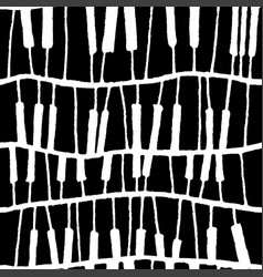 seamless piano pattern in black and white vector image