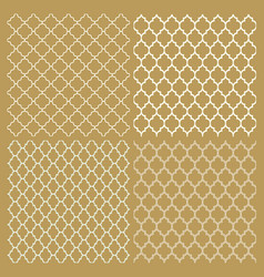set of four traditional arabic delicate patterns vector image