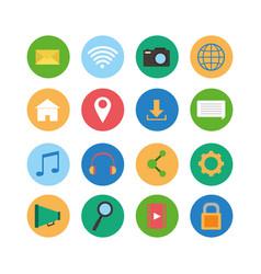 set of social media icons vector image