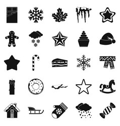 Shrine icons set simple style vector