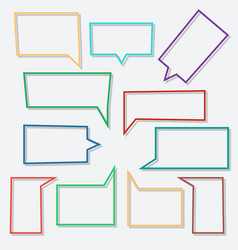 speech bubbles linear icons in shape rectangle vector image