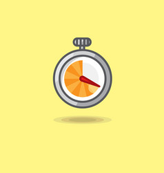 stopwatch isolated on yellow vector image