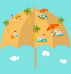 summer vacation on funny beach bodypositive vector image