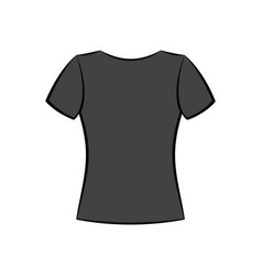 T-shirt flat template vector