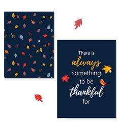 Thanksgiving greeting card with greeting vector