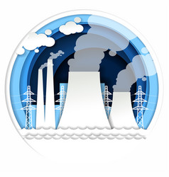 thermal power plant in paper vector image