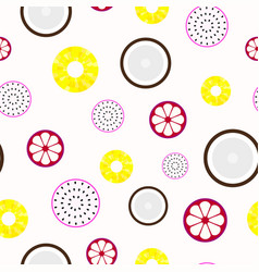 Tropical fruits - seamless pattern vector