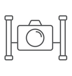 Underwater camera thin line icon diving vector
