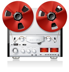 vintage hi-fi analog stereo reel to reel tape deck vector image