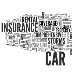 Will your auto insurance weather the storm text vector