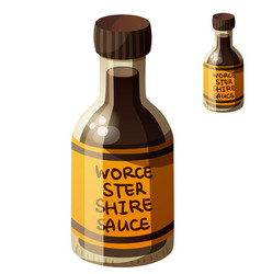 worcestershire sauce detailed icon vector image