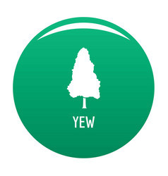 Yew tree icon green vector