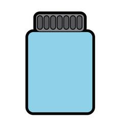 bottle empty container plastic icon vector image