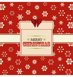 Christmas present label background red vector image vector image