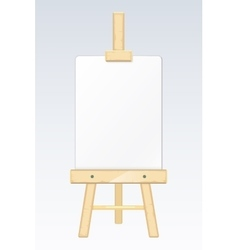 Easel painting desk drawing board with blank vector image vector image