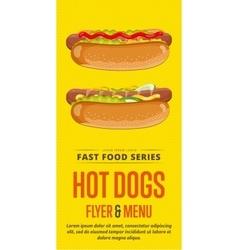 Hot dog sale flyer vector image vector image