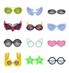 Set of fashion glasses vector image vector image
