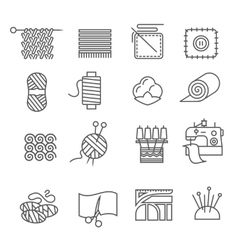 Textile Industry Icons Set vector image