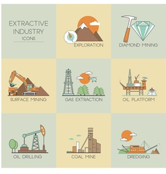 Extractive industry vector image vector image