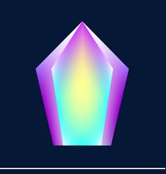 magic glowing crystal vector image