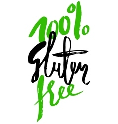 Modern brush lettering Gluten free can be used vector image vector image