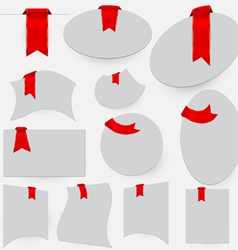Red bookmarks vector image vector image