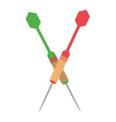 darts sport equipment vector image