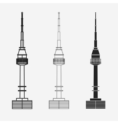 Namsan tower in Seoul vector image vector image