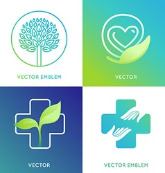 set of logo design template in bright gradient vector image vector image