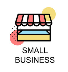 small business icon for business on white vector image vector image