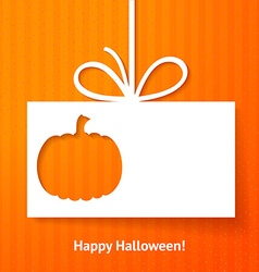 Applique card or background with pumpkin vector image vector image