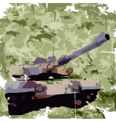 Army background with tank Apparel print vector image