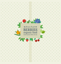 banner with fresh berries and fruits vector image
