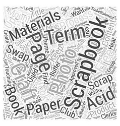 craftingtheessentialsinscrapbooking Word Cloud vector image