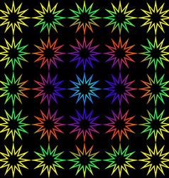 Geometric background of rainbow stars vector image vector image