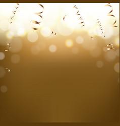 golden new year postcard vector image vector image