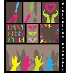love help protection concept vector image