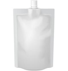 White blank doy-pack foil food or drink bag vector image vector image