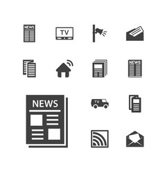 13 news icons vector
