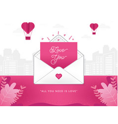 a love letter vector image