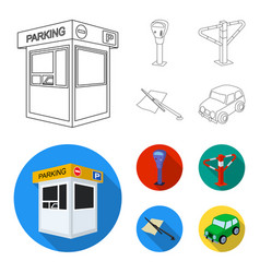 a parking lot a parking meter a check for vector image