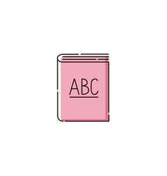 abc book icon isolated on white background vector image