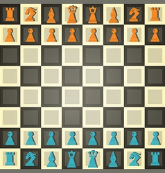 Abstract chess vector