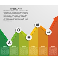 Abstract infographic chart vector image