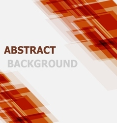 Abstract orange geometric overlapping background vector image