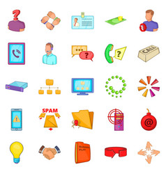 Approximate income icons set cartoon style vector